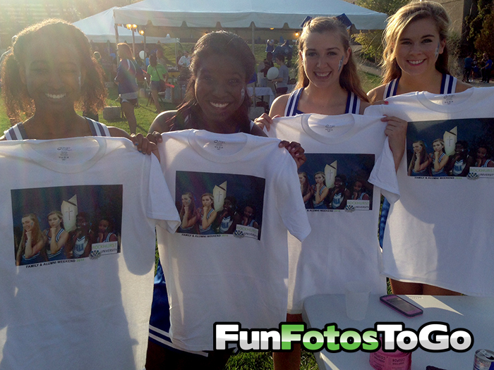 Photo TShirts make a great lasting memory of your family weekend.