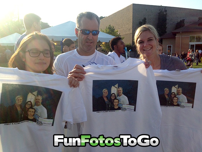 Photo T-shirts are perfect for Family Weekend, Grad Night Events and more.