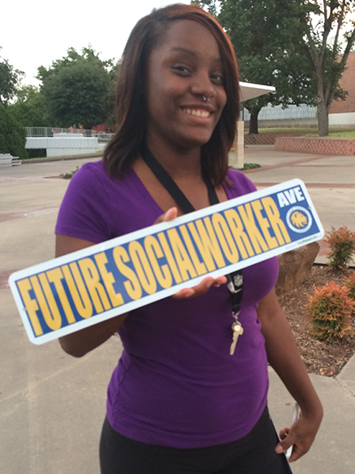 Future is bright street sign for college students